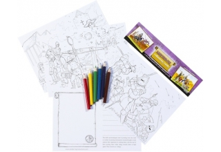 Medieval Educational Colouring Postcards