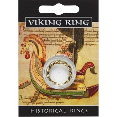 Viking Twist Ring - Gold Plated