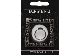 Rune Gem Ring - Pewter