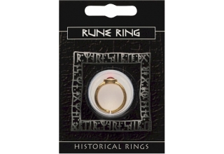 Rune Gem Ring - Gold Plated
