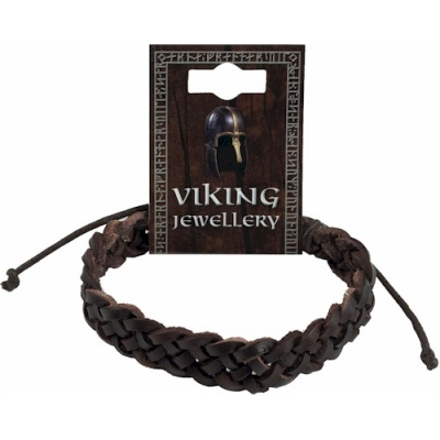 Viking Leather Single Plaited Bracelet