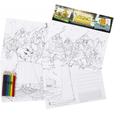 Viking Educational Colouring Postcards