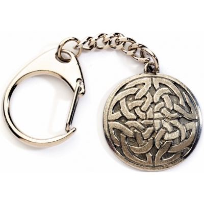 Round Celtic Knot Key-Ring