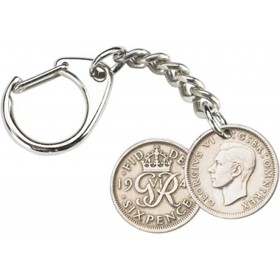 Sixpence Key-Ring - Geo..