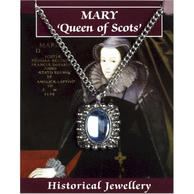 Mary Queen of Scots Gem Pendant - Pewter