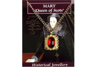 Mary Queen of Scots Gem Pendant - Gold Plated