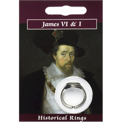 James VI & I Ring - Pewter