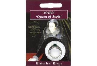 Mary Queen of Scots Gem Ring - Pewter
