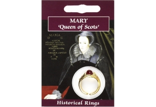 Mary Queen of Scots Gem Ring - Gold Plated