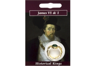 James VI & I Gem Ring - Gold Plated