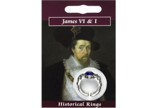 James VI & I Gem Ring - Pewter COPY