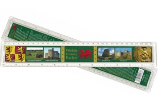 Welsh History Plastic Ruler - 30cm