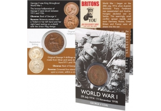 World War I Coin Pack - George V Halfpenny