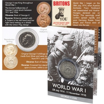 World War I Coin Pack - George V Shilling