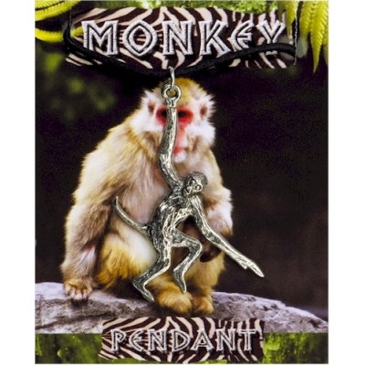 Monkey Pendant - Pewter
