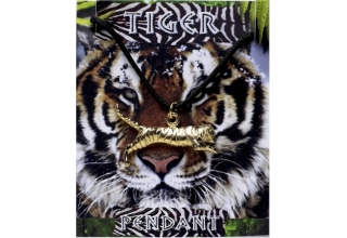 Tiger Pendant - Gold Plated