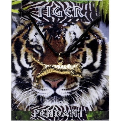 Tiger Pendant - Gold Pl..