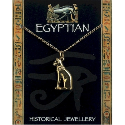 Egyptian Cat Pendant Go..