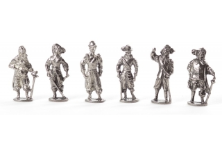 The Musketeers, Set of 6 Figurines