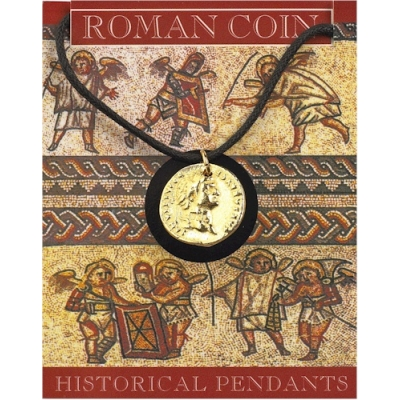Domitian Coin Pendant - Gold Plated