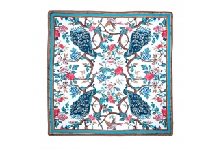 'Glorious Peacock' Silk Scarf