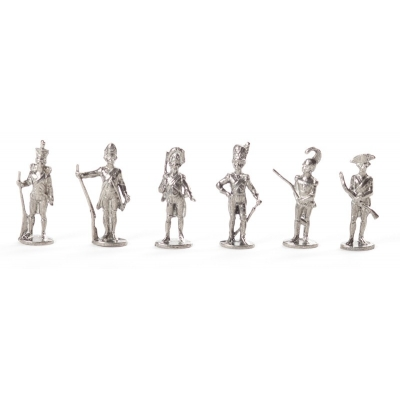 Napoleon Bonaparte, Soldiers, Set of 6 Figurines