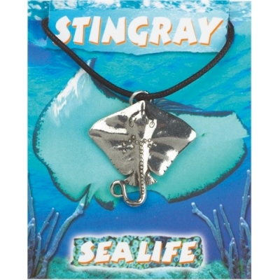Stingray Pendant - Pewter