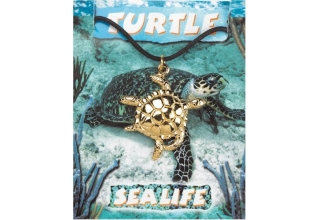 Turtle Pendant - Gold Plated