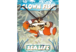 Clown Fish Pendant - Gold Plated