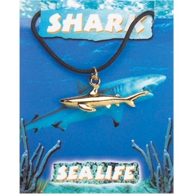 Shark Pendant - Gold Pl..