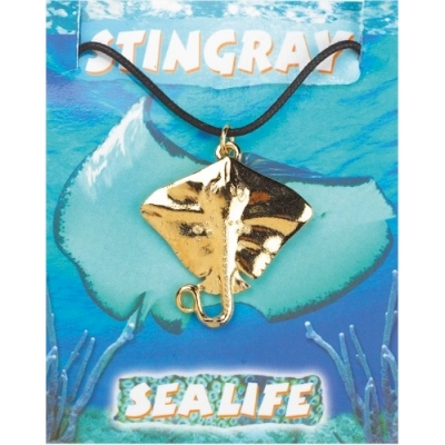 Stingray Pendant - Gold..