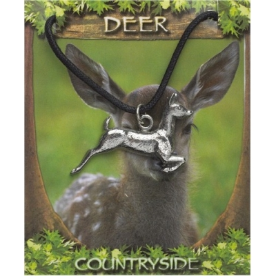 Deer Pendant - Pewter