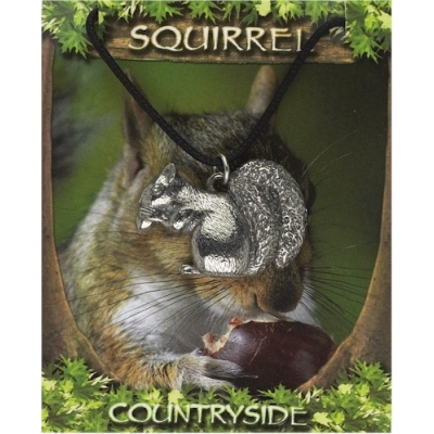 Squirrel Pendant - Pewter