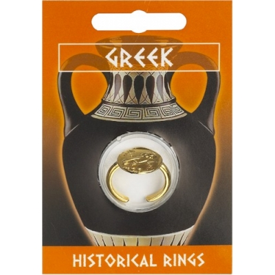 Greek Owl Coin Ring - G..