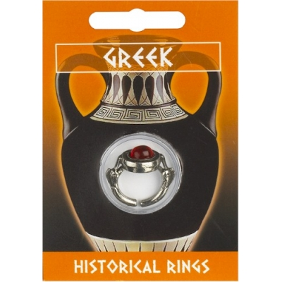 Greek Dolphin Gem Ring ..