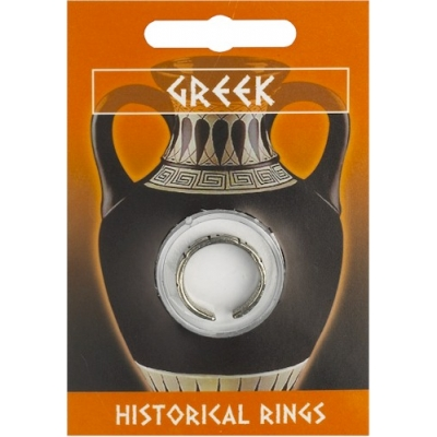 Greek Key Design Ring - Pewter