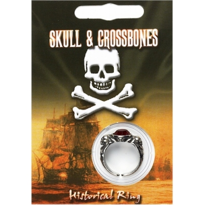 Pirate Gem Ring - Pewter