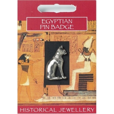 Egyptian Cat Pin Badge ..