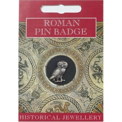 Roman Owl Pin Badge - P..