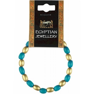 Egyptian Turquoise & Gold Be..