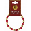 Roman Red & Gold Bead B..