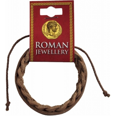 Roman Brown Leather Pla..