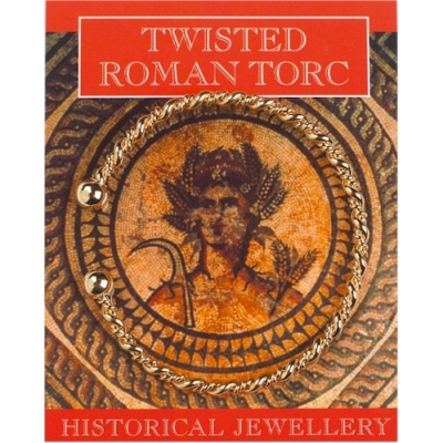 Roman Twisted Torc - Gold Pl..