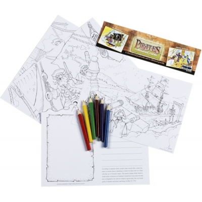 Pirate Educational Colouring..