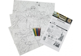 World War II Colouring Posters