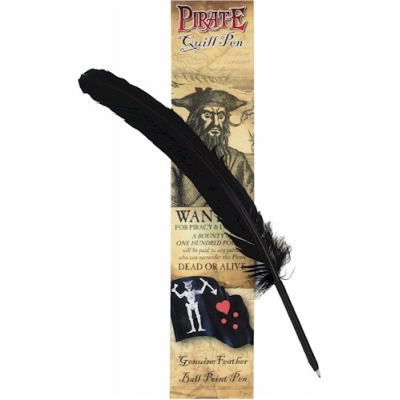Pirate Black Quill Pen