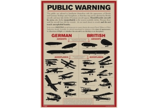 World War I Aircraft Identification Poster - A3