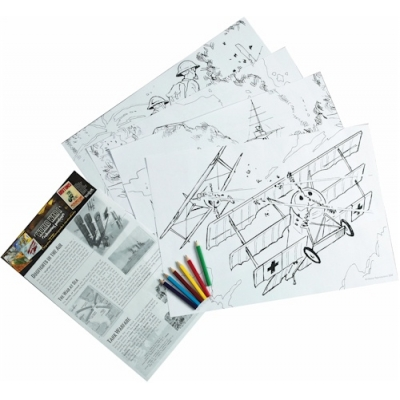 World War I Educational Colouring Posters