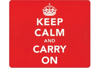 Keep Calm and Carry On Mouse Mat