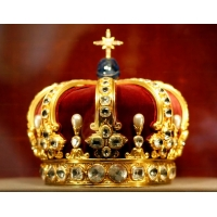 Bookmark 'Prussian Crown', gold-plated